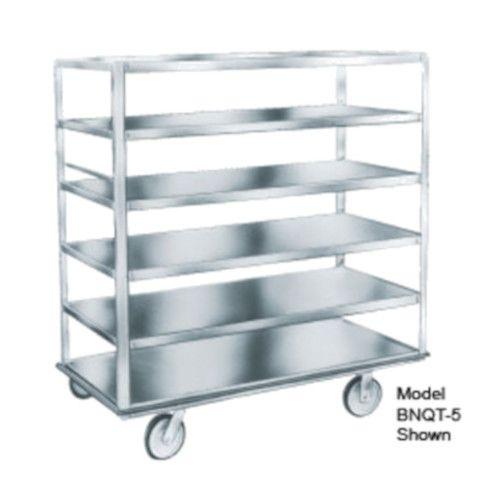 Winholt BNQT-4 Aluminum Queen Mary Banquet Cart with 4 Pan Capacity