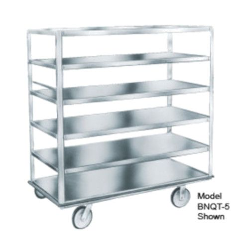 Winholt BNQT-5/SS Stainless Steel Queen Mary Banquet Cart with 5 Pan Capacity
