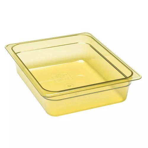 Cambro 22HP150 H-Pan Amber High Heat Half Size Food Pan (6 per case)