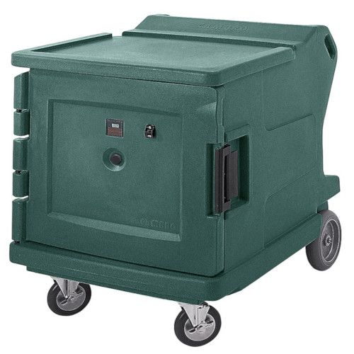 Cambro CMBHC1826LF192 Electric Low Profile Camtherm Hot/Cold Cart (Fahrenheit) (Granite Green)