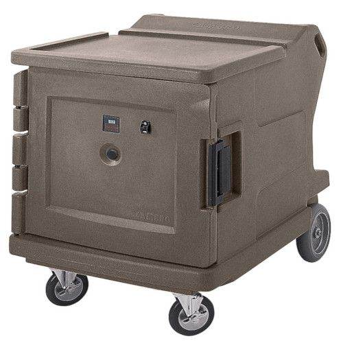 Cambro CMBHC1826LF194 Electric Low Profile Camtherm Hot/Cold Cart (Fahrenheit) (Granite Sand)