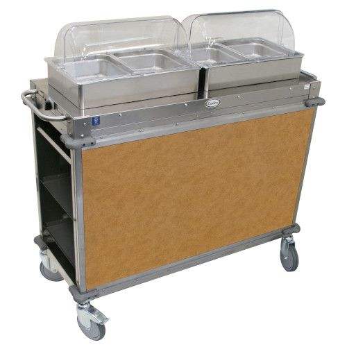 Cadco CBC-HH-L1-4 Electric MobileServ Hot Food Buffet Cart with 4