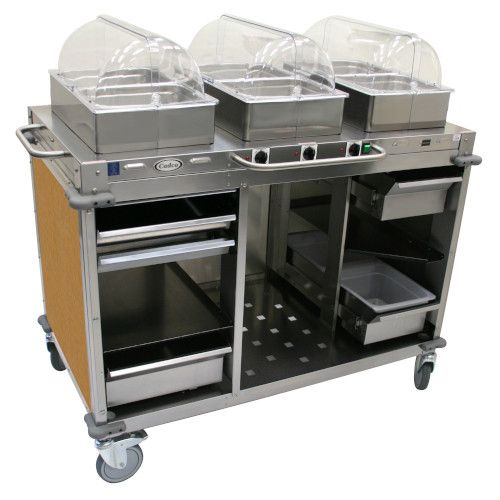 Cadco CBC-HHH-L1-4 Electric MobileServ Hot Food Buffet Cart - 4