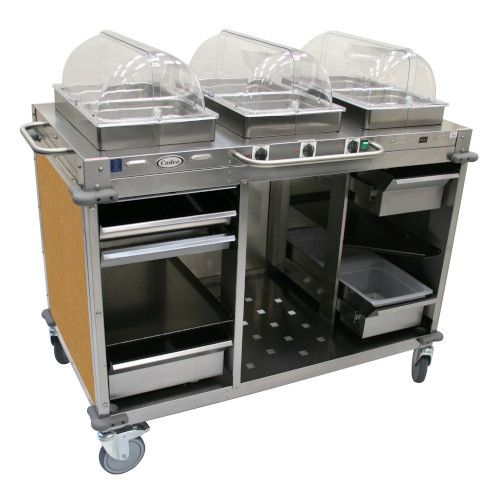 Cadco CBC-HHH-L1 Electric MobileServ Hot Food Buffet Cart