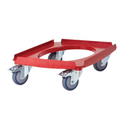 Cambro CD3253EPP Hot Red Food Carrier Dolly / Camdolly - 551 lb. Capacity