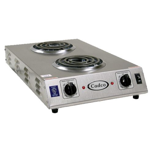Cadco CDR-1TFB Front-to-Back Two Burner Electric Portable Hot Plate