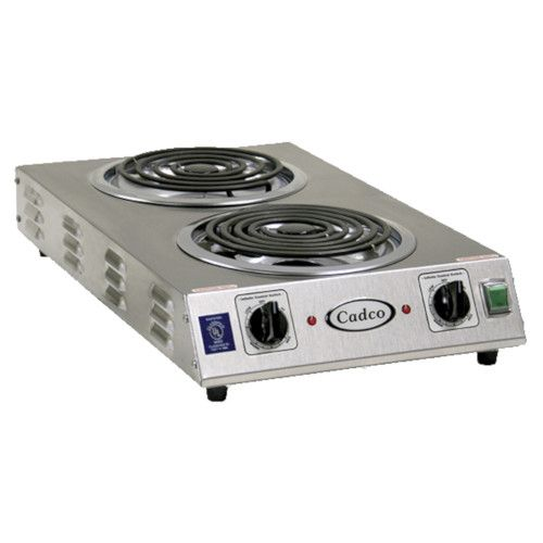 Cadco CDR-2TFB Front-to-Back Two Burner Portable Hot Plate