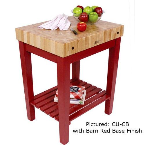 John Boos CU-CB3024S Chef's Block Butcher Block Table with Shelf 30