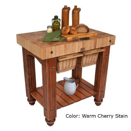 John Boos CU-GB3624CR American Heritage Gathering Block Butcher Block Table 24