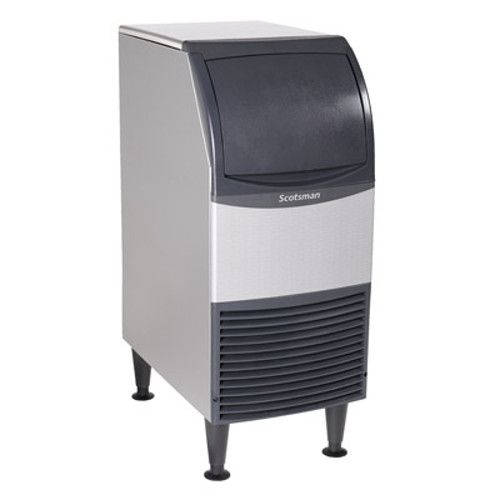 Scotsman CU0415MA-6 Self-Contained Air-Cooled Cube-Style Essential Ice Machine with Bin - 58 lb.