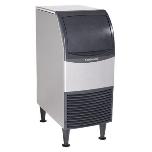 Scotsman CU0715MA-6 Self-Contained Air-Cooled Cube-Style Essential Ice Machine with Bin - 80 lb.