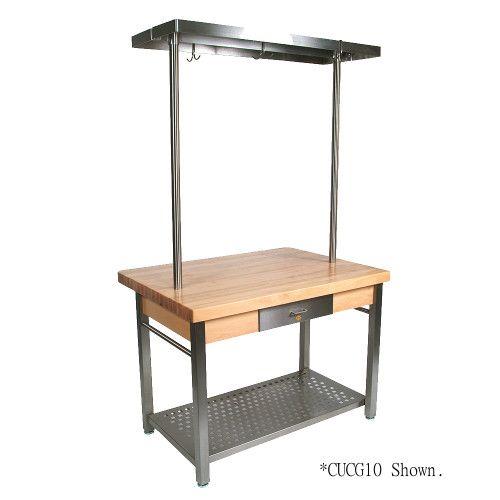John Boos CUCG20 Cucina Grande Work Table Maple Top 48