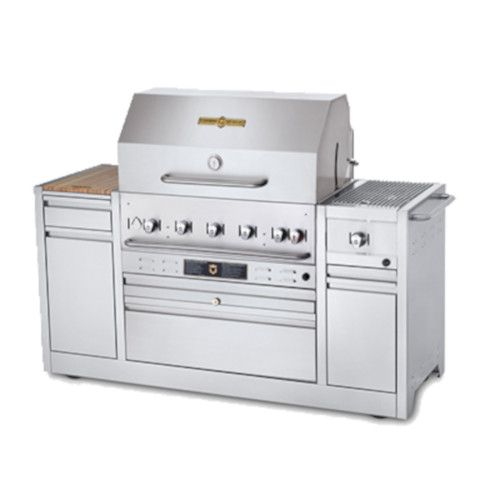 Crown Verity CV-MBI-30I-LP LP Gas Hotel Series Island Grill