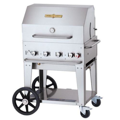 Crown Verity CV-MCB-30RDP-LP LP Gas Mobile Outdoor Grill