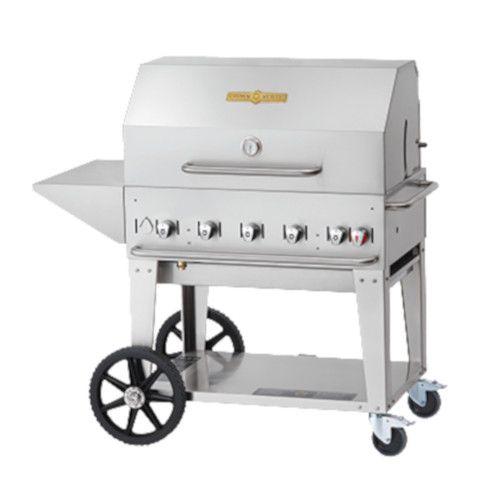 Crown Verity CV-MCB-36PKG-NG 5-Burner Natural Gas Mobile Outdoor Grill