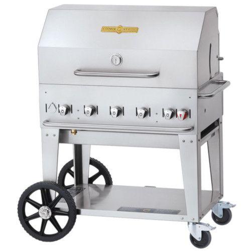 Crown Verity CV-MCB-36RDP-LP LP Gas Mobile Outdoor Grill