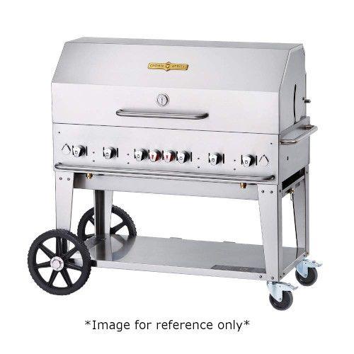 Crown Verity CV-MCB-48-SI50/100-PKG 6-Burner LP Gas Mobile Outdoor Grill