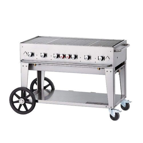 Crown Verity CV-MCB-48-SI50/100 LP Gas Mobile Outdoor Grill