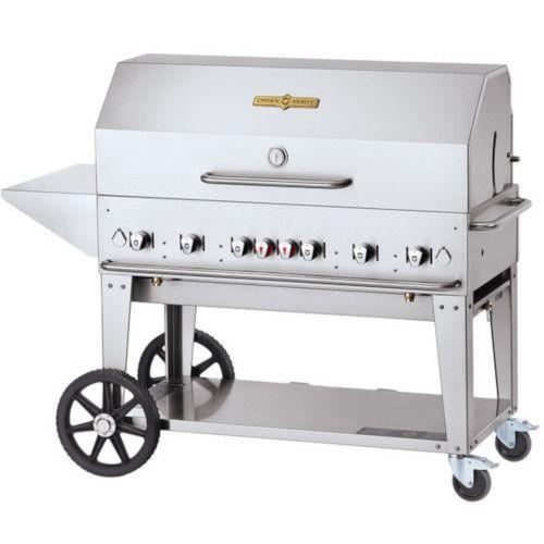 Crown Verity CV-MCB-48PKG-NG 6-Burner Natural Gas Mobile Outdoor Grill