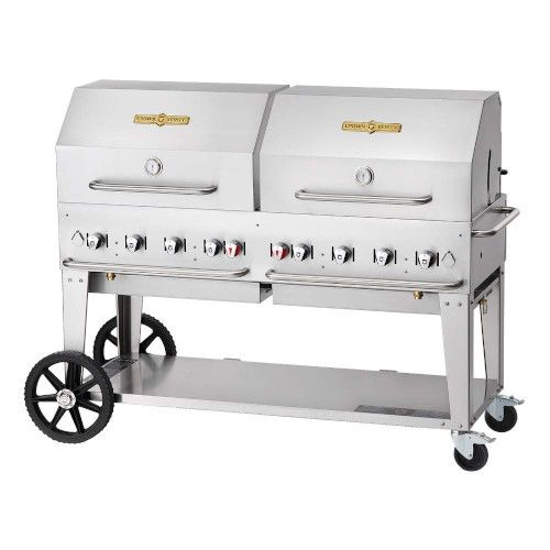 Crown Verity CV-MCB-60-SI-BULK-1RDP 8-Burner LP Mobile Outdoor Grill