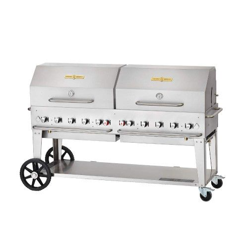 Crown Verity CV-MCB-72-SI-BULK-RDP 10-Burner LP Mobile Outdoor Grill