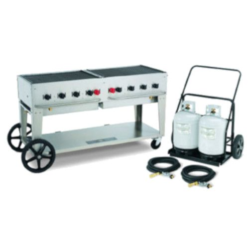 Crown Verity CV-MCC-60 Club Series Mobile Grill with Tank Cart