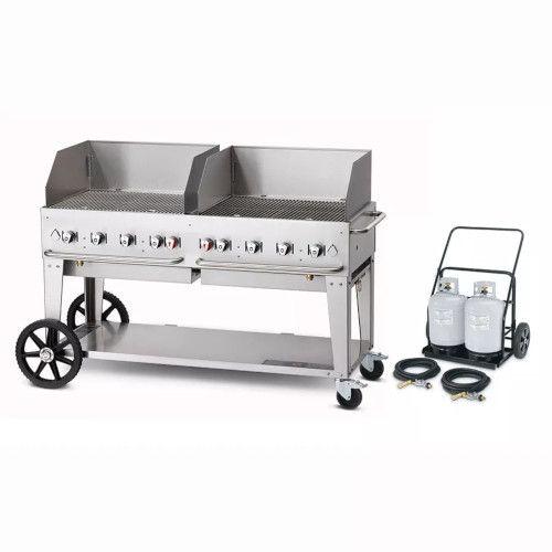 Crown Verity CV-MCC-60WGP Club Series Mobile Grill with Tank Cart