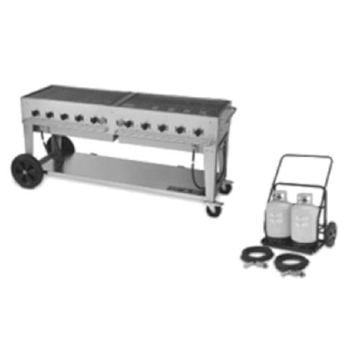 Crown Verity CV-MCC-72 10-Burner Club Series Mobile Grill with Tank Cart