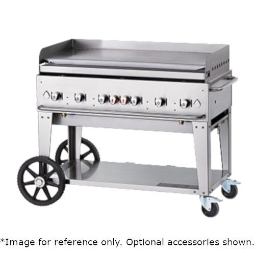 Crown Verity CV-MG-48LP 6-Burner Mobile Outdoor Griddle