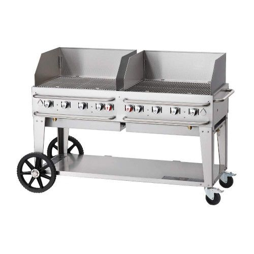 Crown Verity CV-RCB-60WGP-SI-BULK 8-Burner Pro Series Outdoor Grill