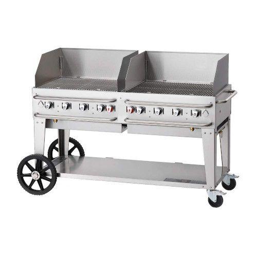 Crown Verity CV-RCB-60WGP-SI50/100 8-Burner Pro Series Outdoor Grill