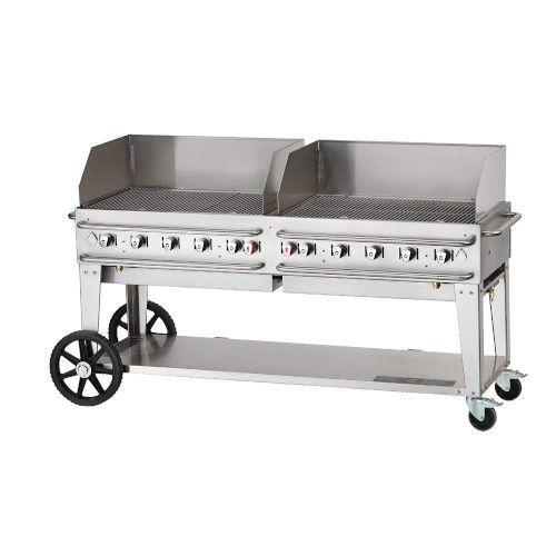 Crown Verity CV-RCB-72WGP-SI50/100 10-Burner Pro Series Outdoor Grill