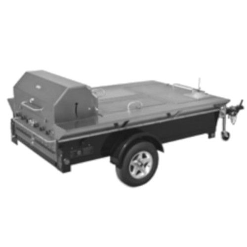 Crown Verity CV-TG-4 Towable Outdoor Grill with Front Storage Compartment