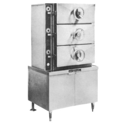 Crown DC-3 Direct Steam Compartment Cooker with Cabinet Base