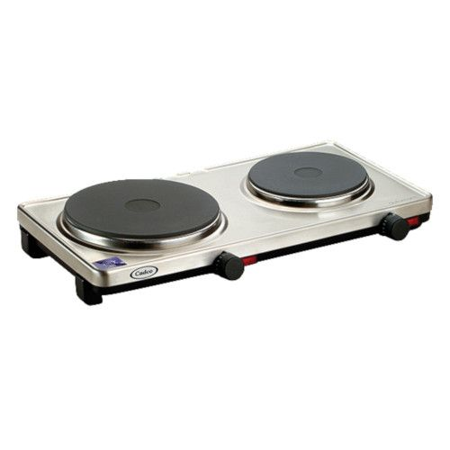 Cadco DKR-S2 Side-by-Side Two Burner Portable Electric Hot Plate