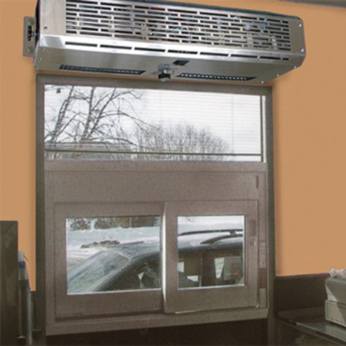 Curtron DT-24-EH Heated Pro Drive-Through Window Air Curtain with SS Housing