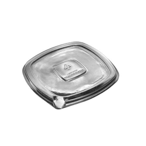 Dinex DXL500PCLR Square Disposable Container Cover / Lid