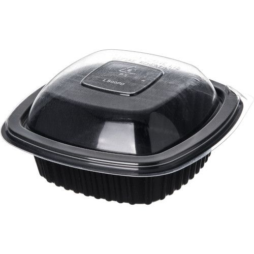Dinex DXL500PDCLR Square Dome Disposable Container Cover / Lid