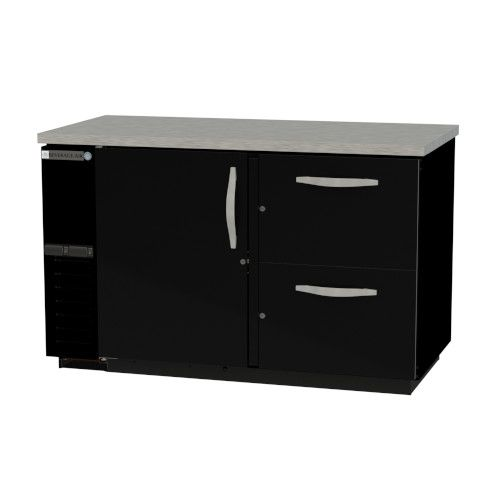 Beverage Air DZD58HC-1-B-2 Dual Zone Beer & Wine Refrigerated Back Bar Cabinet