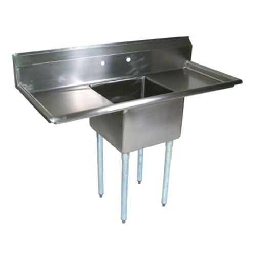 John Boos E1S8-1824-14T24 One-Compartment E-Series Sink with Two 24