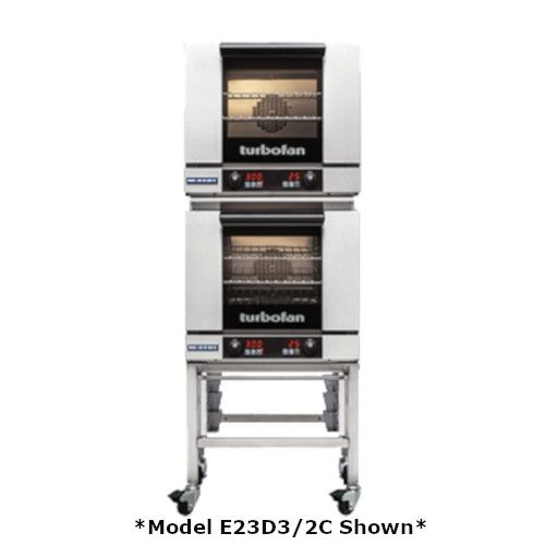 Moffat E23D3/2 Double Stacked Electric TurboFan Convection Oven