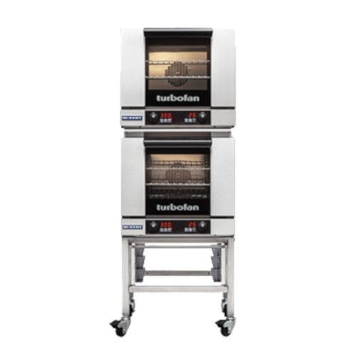 Moffat E23D3/2C Double Stacked Electric TurboFan Convection Oven with Casters