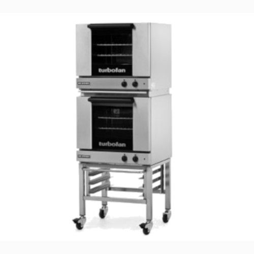 Moffat E23M3/2C Double Stacked Electric TurboFan Convection Oven with Casters