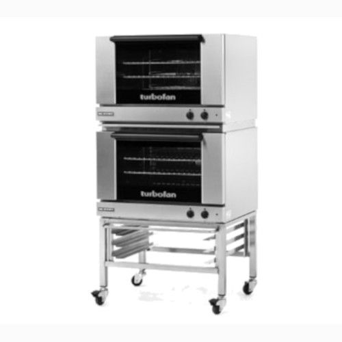 Moffat E27M3/2C Double Stacked Electric TurboFan Convection Oven with Casters