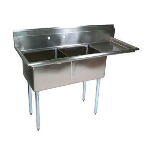 John Boos E2S8-1620-12R18 Two-Compartment E-Series Sink with 18