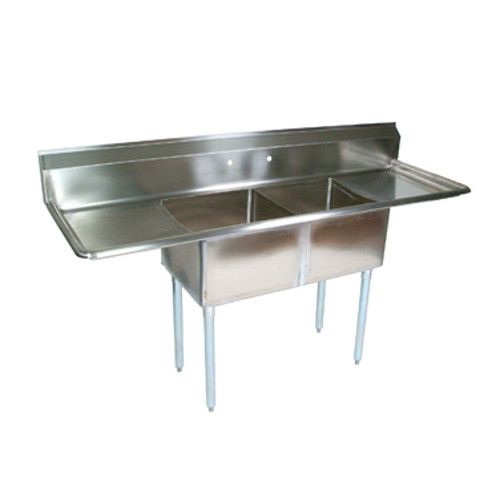 John Boos E2S8-18-12T18 Two-Compartment E-Series Sink with 18