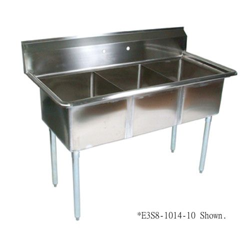 John Boos E3S8-18-12 E-Series Sink with Three 18