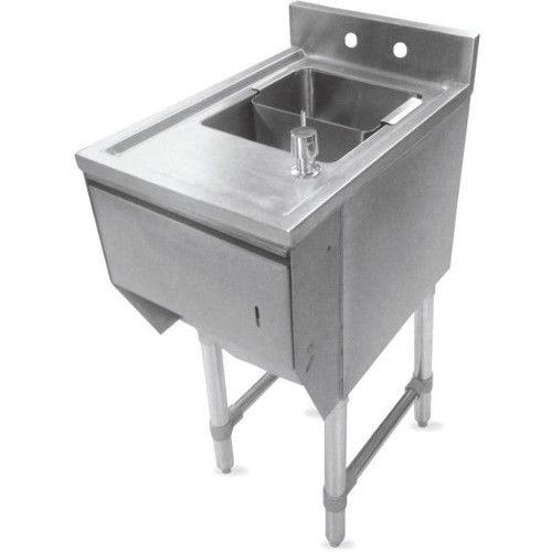 John Boos EUBDS-1218STD Slim Line Underbar Dump Sink with Soap & Towel Dispenser