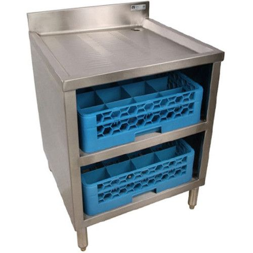 John Boos EUBGRS-24-2 Underbar Glass Rack Storage Cabinet Holds Two 20x20