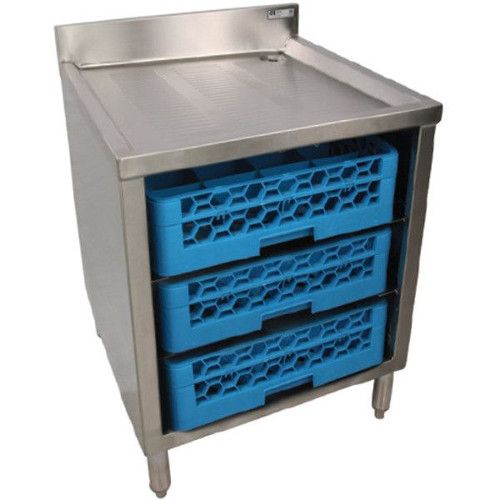 John Boos EUBGRS-24-3 Underbar Glass Rack Storage Cabinet Holds Three 20x20